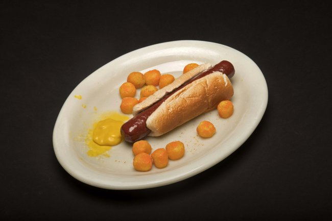 Hotdog And Cheeseball Dinner Plate #3
