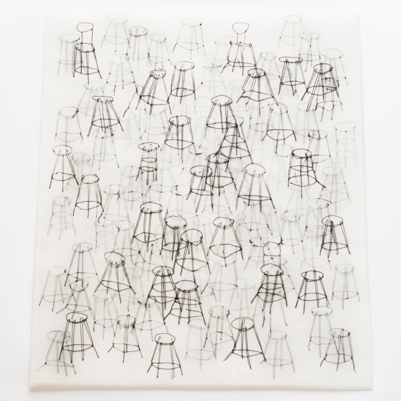 """Suyeon Kim """"Forest of Stools"""""""